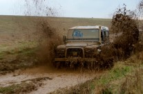Land Rovers at Salisbury Plain